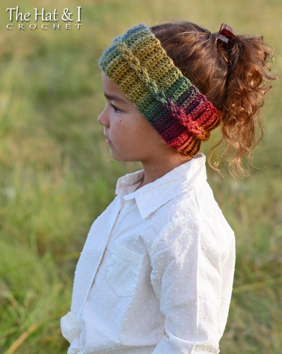 CROCHET patrones otoño brisa Headwrap ganchillo por TheHatandI | Me ...