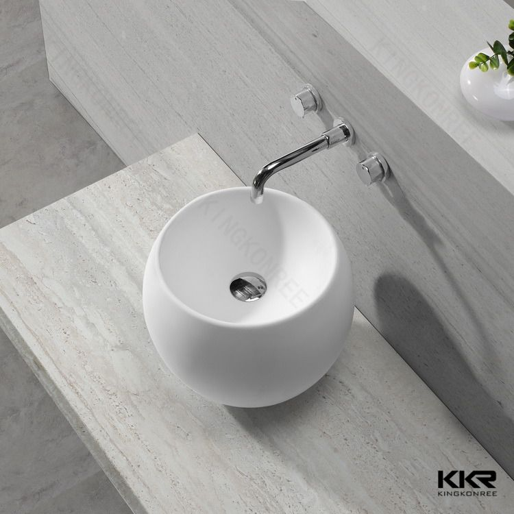 Man Made Stone Wash Basin / Acrylic Atone Sink For Hotel Vanity Top  #Atonement, #design