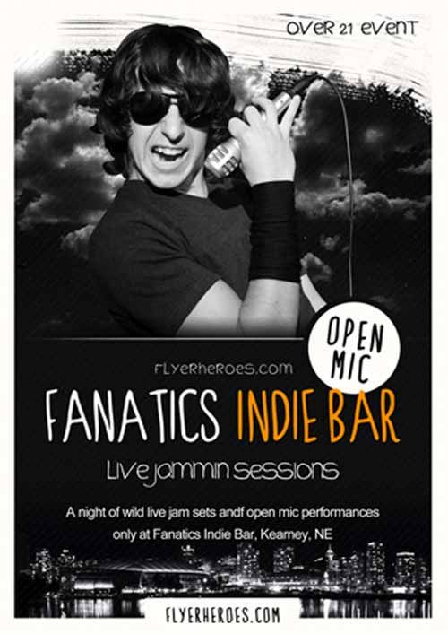 Fanatics Free Indie Rock Bar Free Flyer Template -   - free flyer templates word