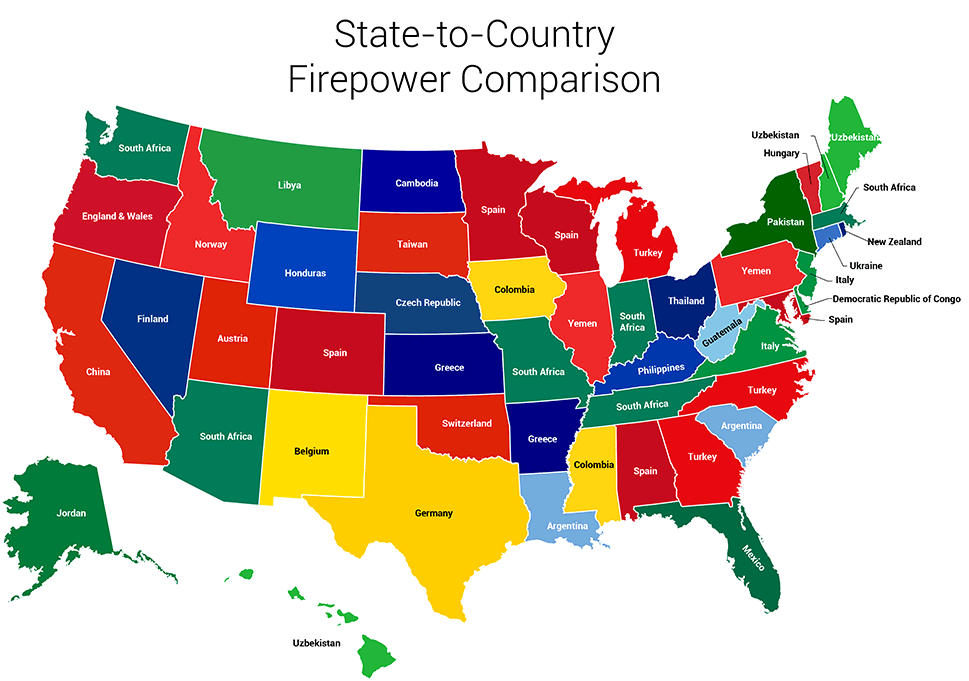 This Surprising Map Shows All States Renamed For Countries With - Show me the map of united states of america