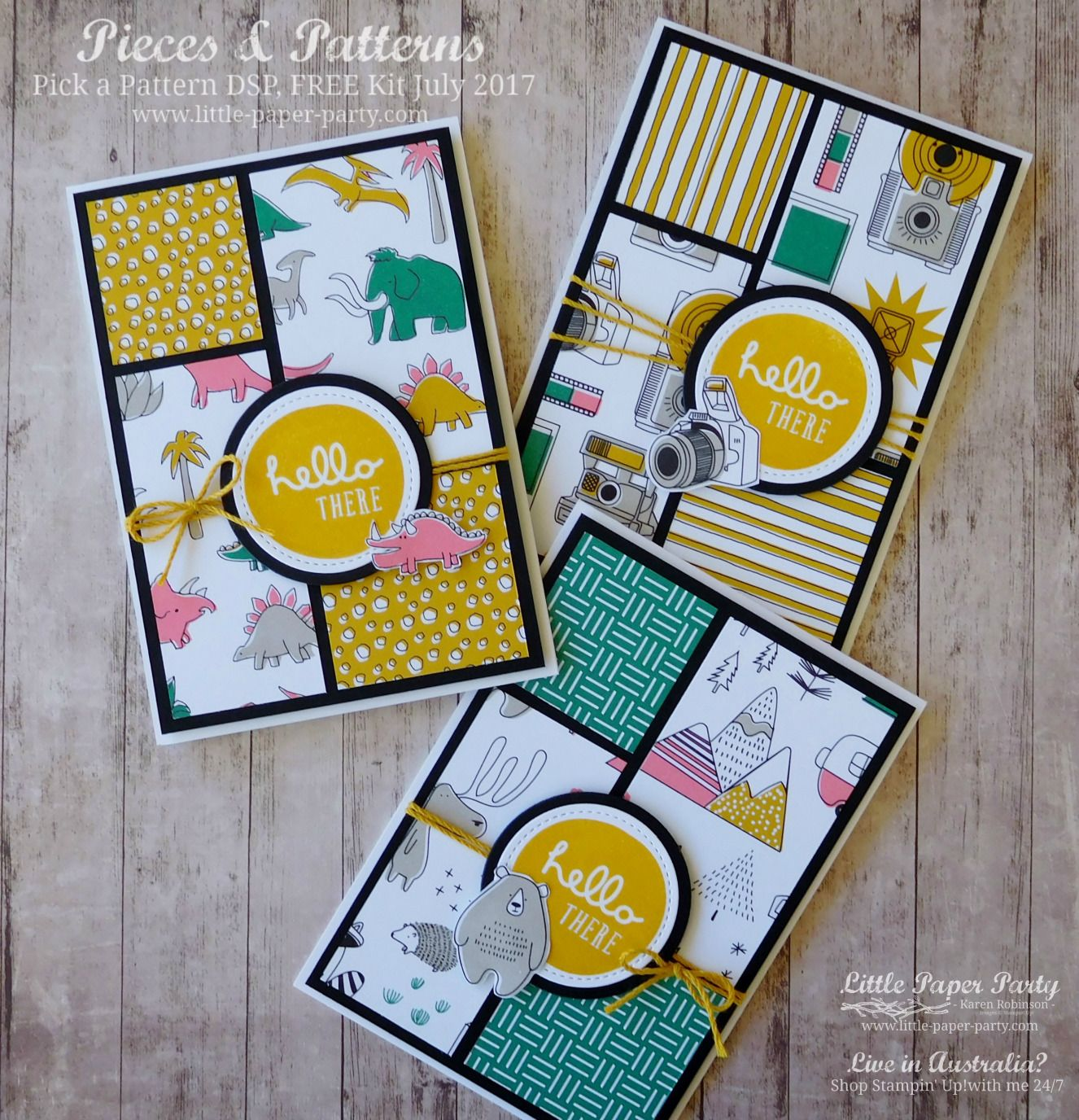 Pick A Pattern Free Kit July 2017 With Images Card Patterns