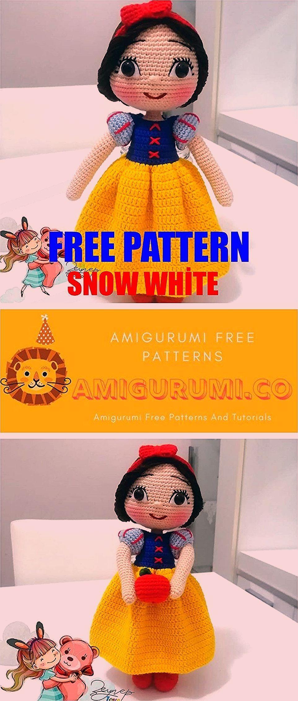 Photo of Amigurumi Snow White Free Crochet Pattern – Amigurumi Co, #Amigurumi # …