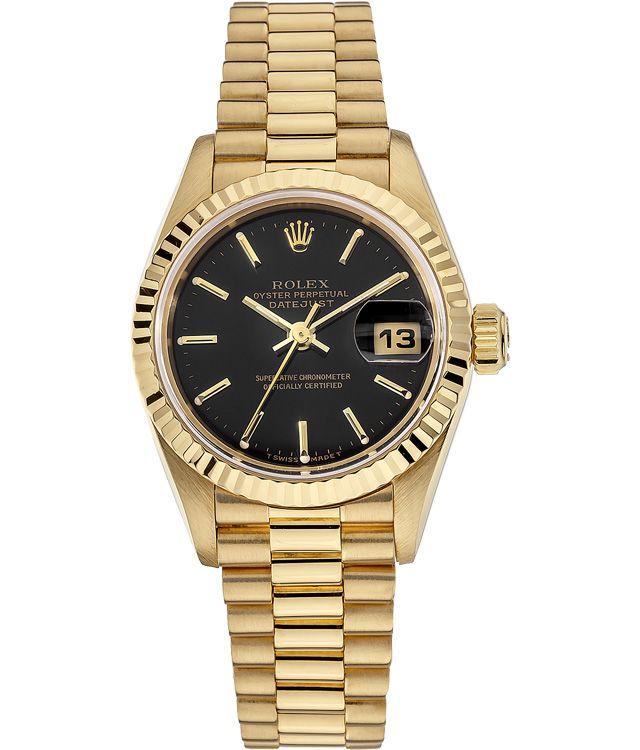 Rolex Datejust Gold Black Dial