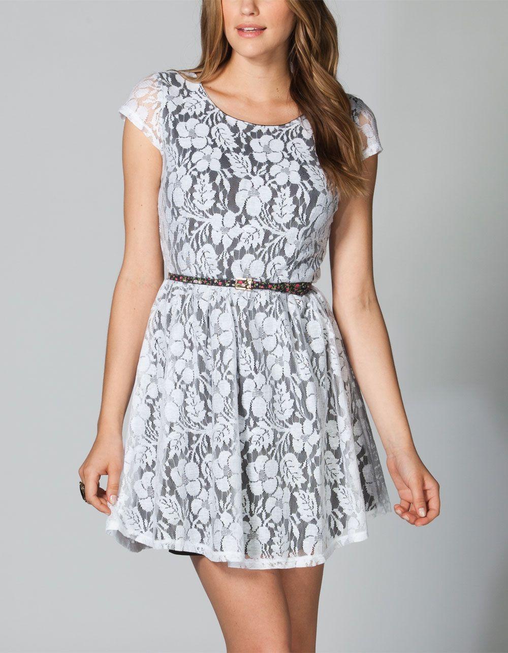 EYESHADOW Lace Zip Back Dress 219523125   Short Dresses   Tillys.com
