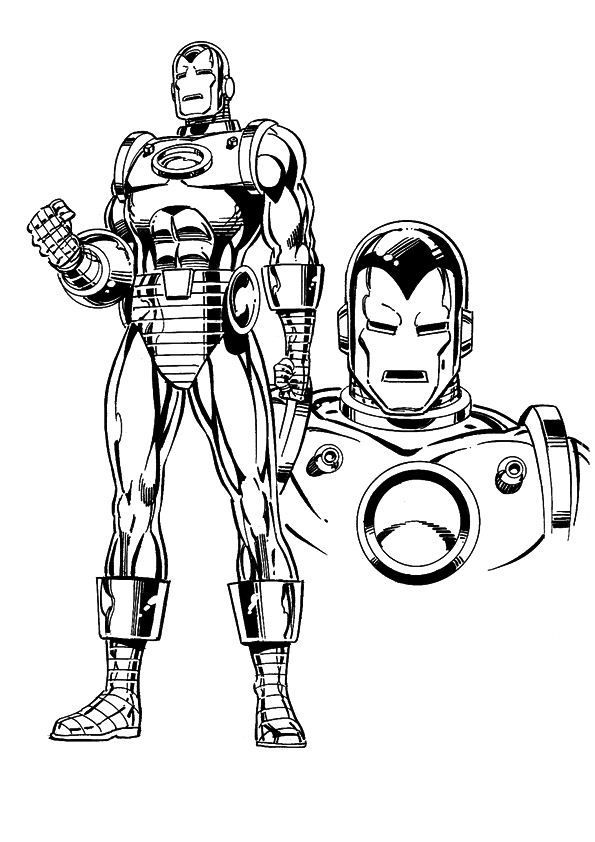 coloring page Iron Man - Iron man   color sheets   Pinterest ...