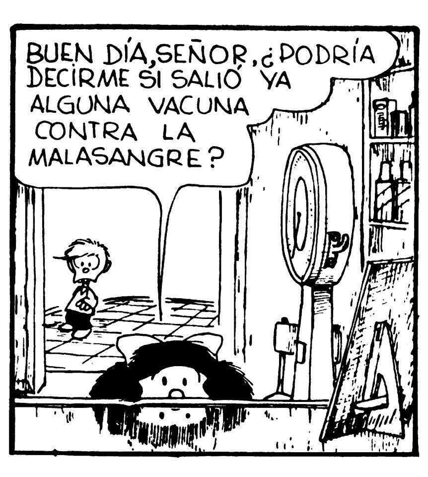 Resultado de imagen para vacuna contra la malasangre mafalda