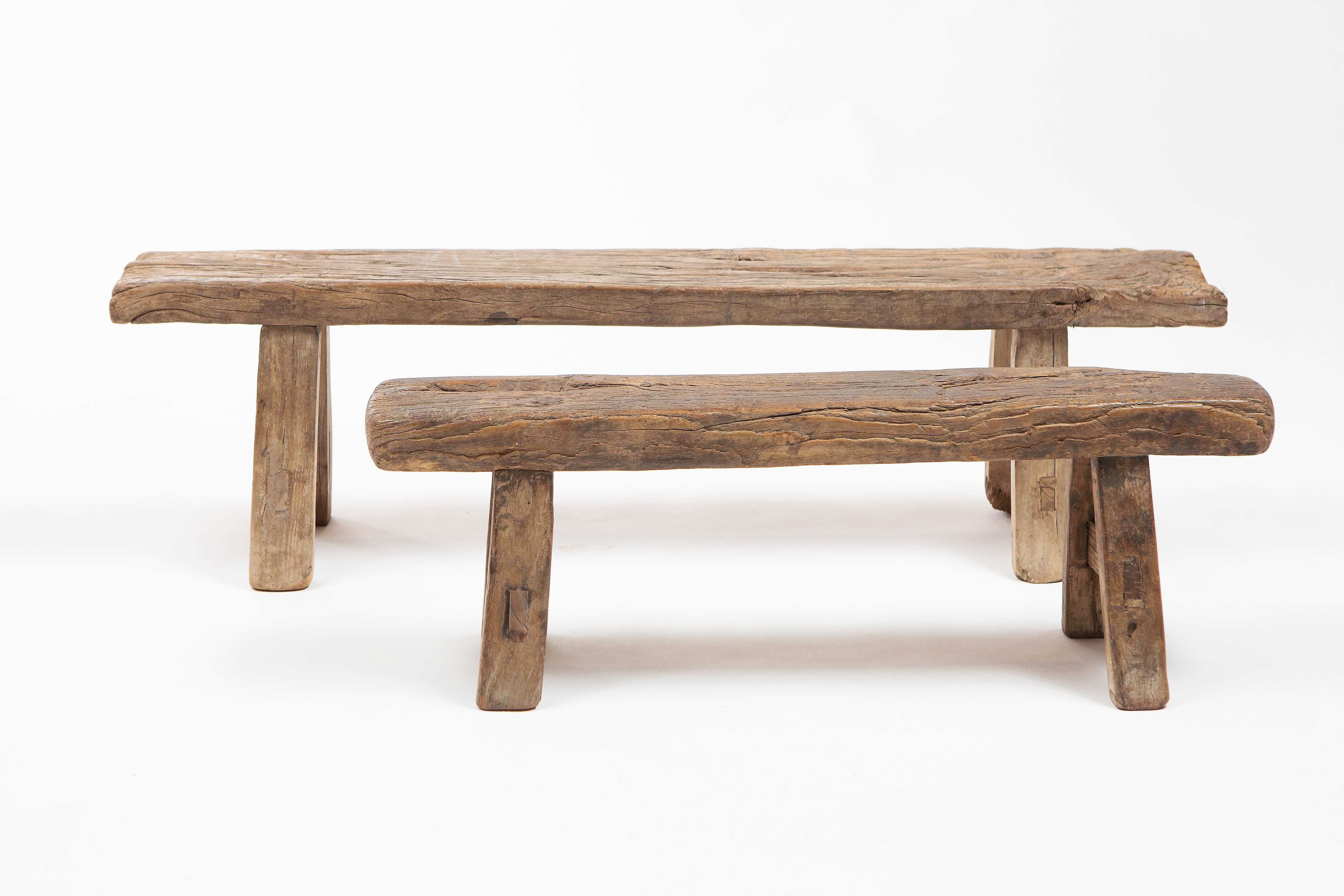 Antique Chinese Small Wooden Benches In 2020