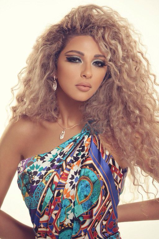 Myriam Fares Arab Celebrities Curly Hair Women Curly Girl Hairstyles