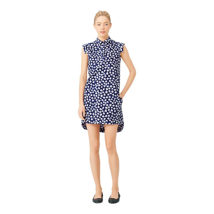 Kate Spade Slim-Sleeve Dress in Indigo Floral <3