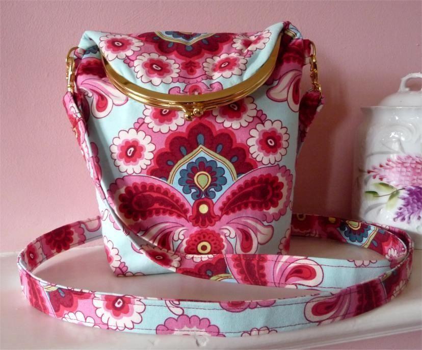 Fold-Over Kiss-Snap Cross-Body Bag - PDF Sewing Pattern