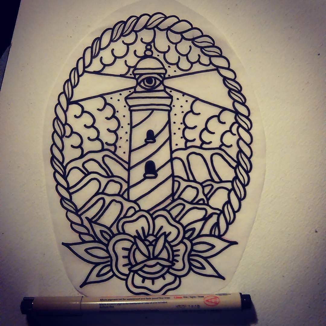 Lighthouse American Traditional Tattoo: Pin On Tattoos