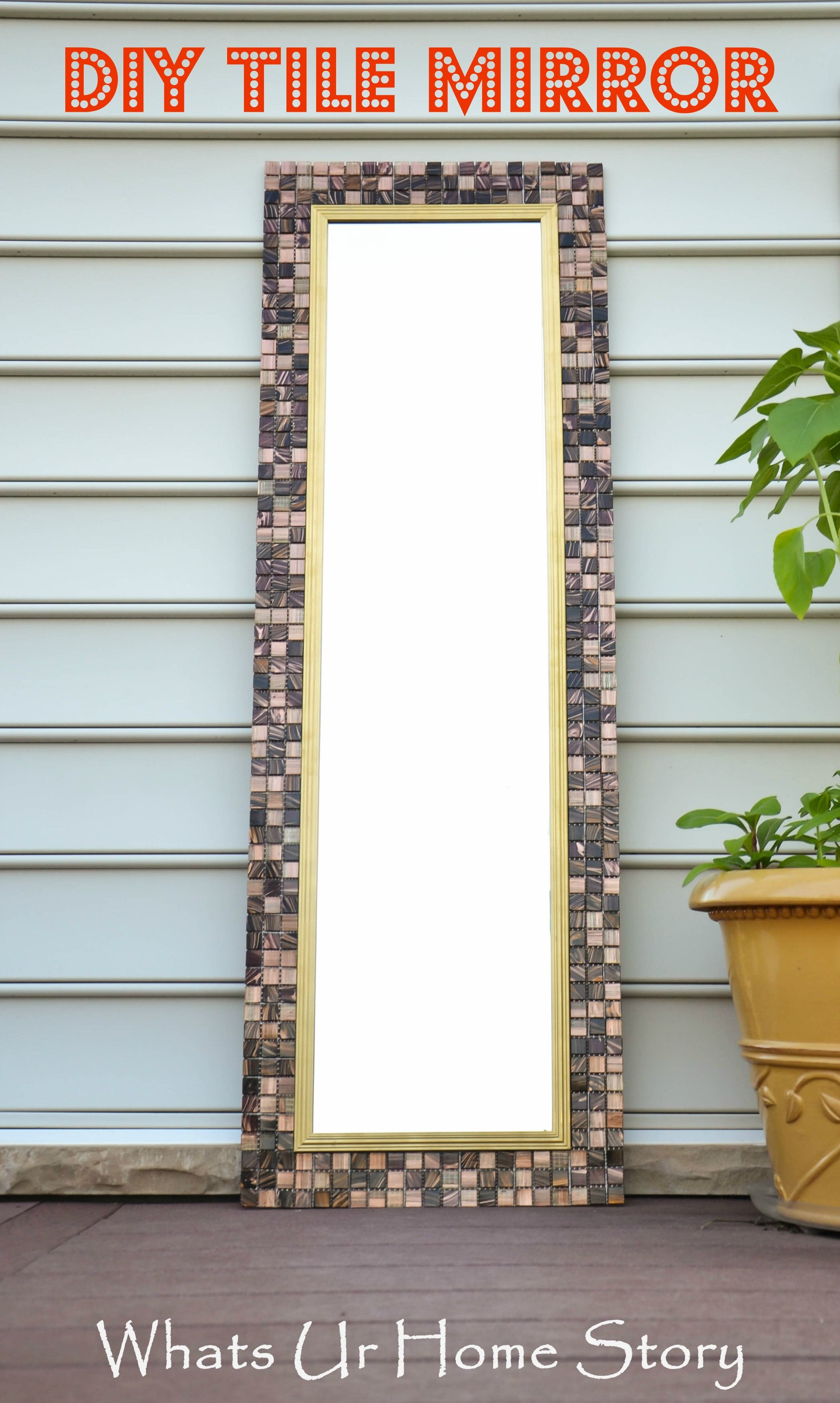 #Diy Tile Mirror Using Elmers Probond Advanced Transform A Cheap,