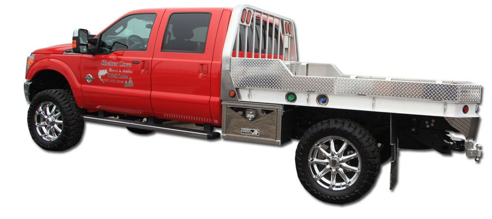 Highway Products All Aluminum Truck Flatbeds Have Style Built Into Rough And Ready Truck Bodies Take A Look Or Call 1 Truck Flatbeds Custom Truck Beds Trucks