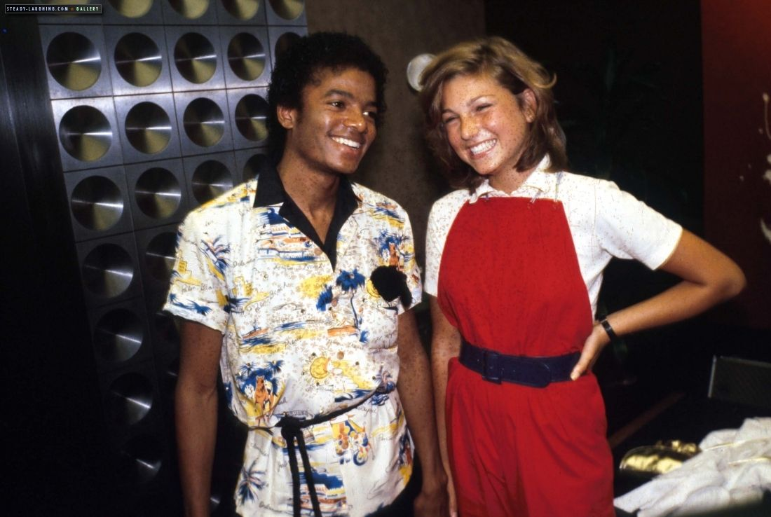 """MJ and actress Tatum O'Neal attend a party where The Jacksons """"Destiny"""" album receives a Platinum record, City National Bank Vault, Beverly Hills July 1st 1979"""