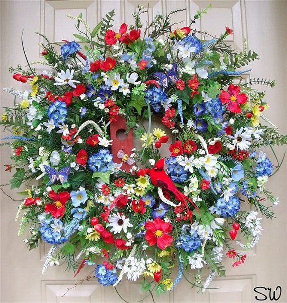 4th of July-Americana-Patroitic Wildflower by SeasonalWreaths