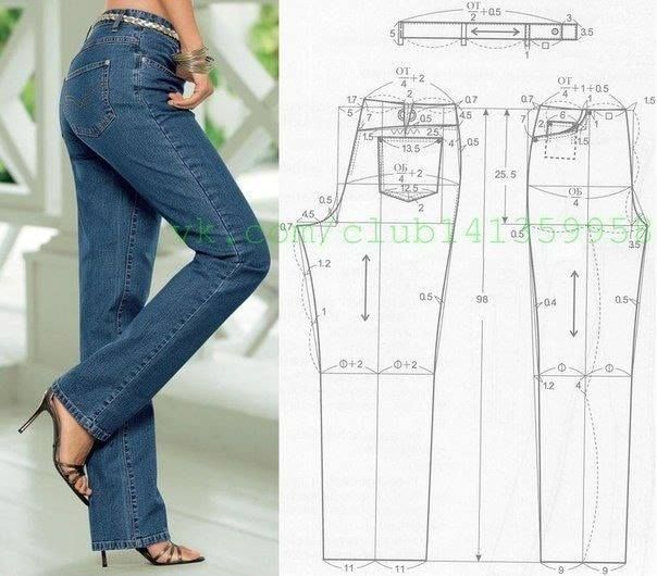 Jeans Patterns #molde #costura #patterns | Patrones | Sewing pants ...