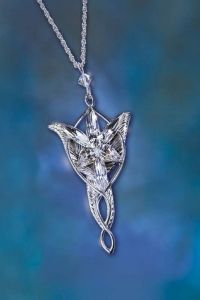 Il Signore Degli Anelli Arwen Collana Stella del Vespro Undomiel Lord Of Rings