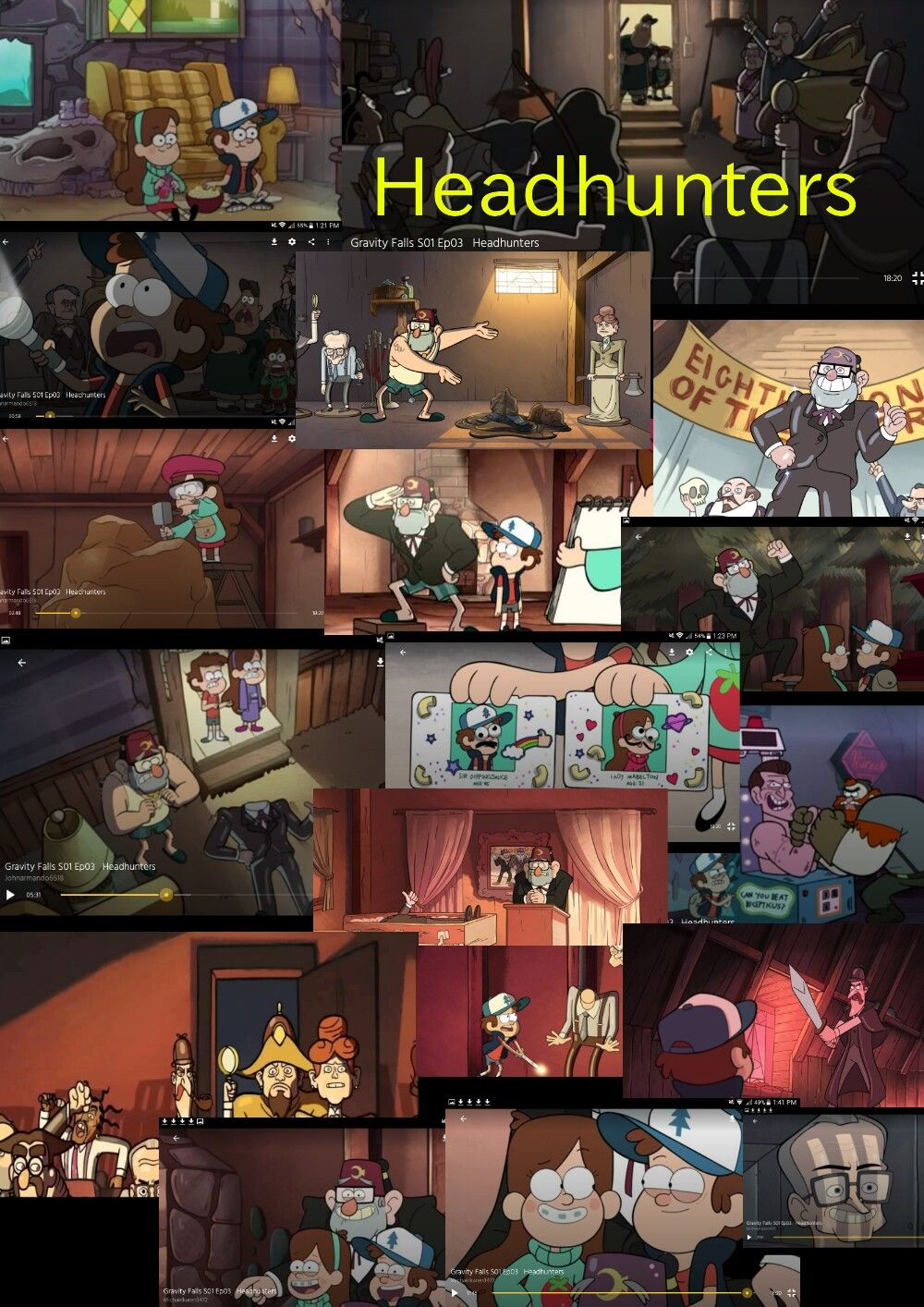 gravity falls season 1 episode 3 headhunters gravity falls