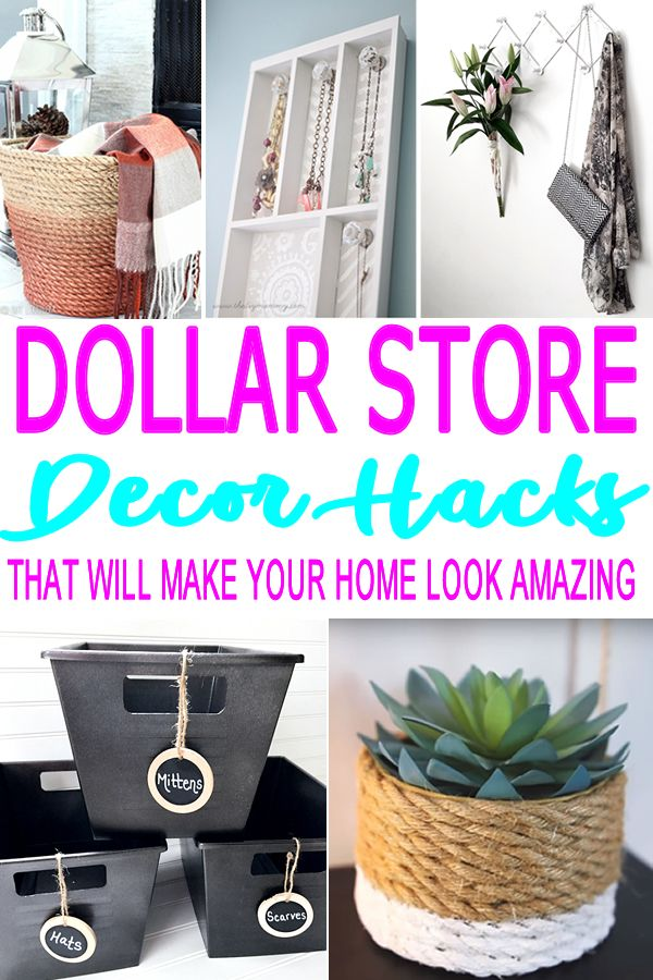 33 Amazing Ideas That Will Make Your House Awesome: Dollar Store Hacks, Diy Crafts For Home Decor, Dollar Stores