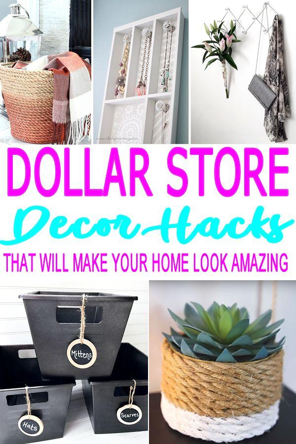 DIY Dollar Store Hacks Dollar store hacks, Diy crafts