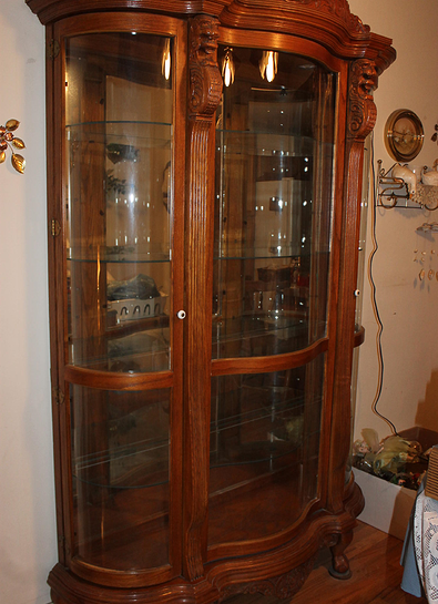 Absolutely Beautiful Antique Oak Curio Cabinet $ 1800 | For the ...