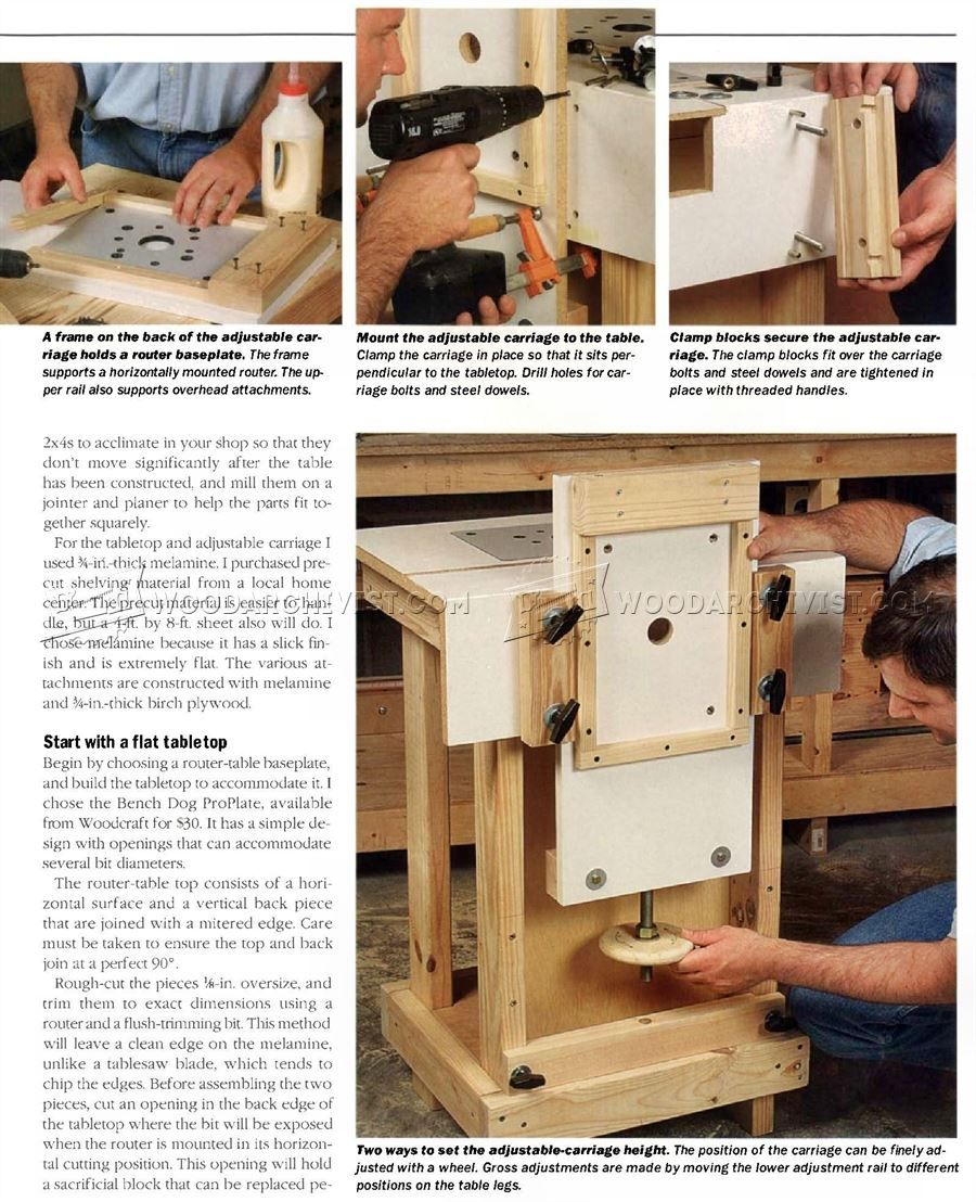 Homemade router table top   Horizontal Router Plans Table  Routeur  ROUTER  Pinterest