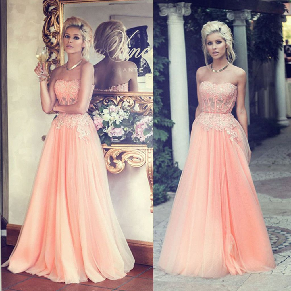 Charming floor length sweet heart junior tulle affordable long prom