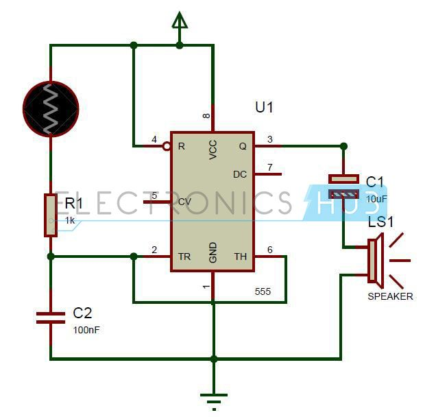 screaming siren lights circuit elactronics pinterest circuit rh pinterest com
