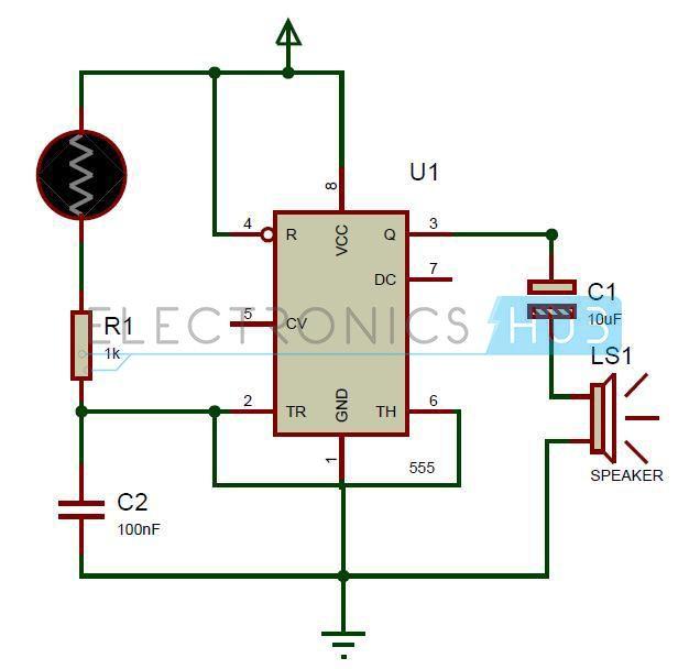 Screaming Siren Lights Circuit | elactronics | Circuit