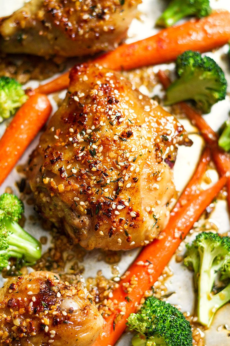 You'll never believe how simple it is to make this sheet pan honey garlic chicken with veggies!