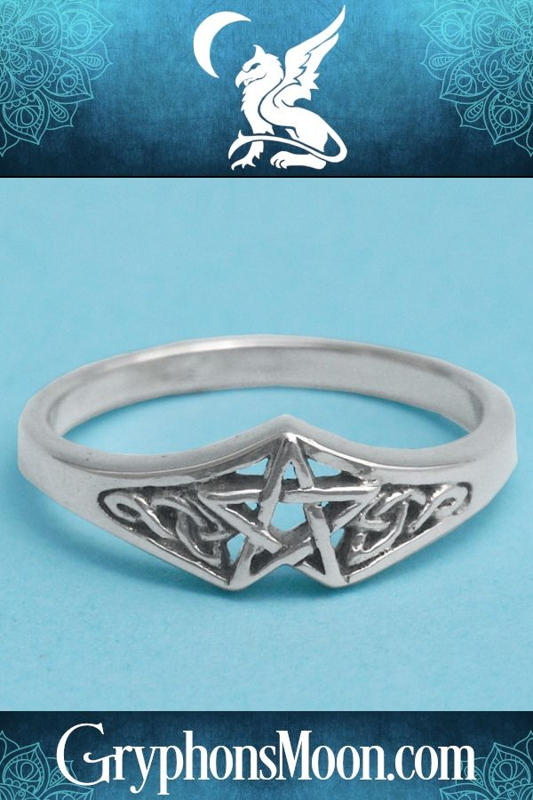 Silver Celtic Star Ring Pagan Jewelry Witch Jewelry