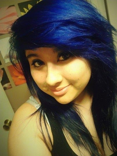 Splat Blue Envy Bluehair Sidebangs Hair Inspiration Hair