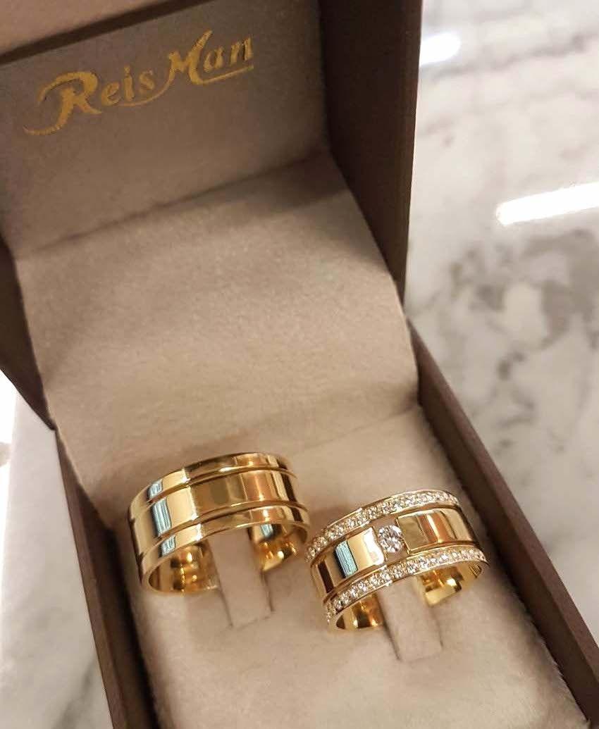 Alianças Trieto Plus ♥ Casamento e Noivado em Ouro 18K - Reisman ... 98b895e87a