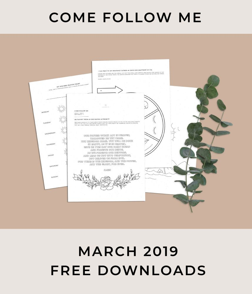 free come follow me coloring worksheets for march