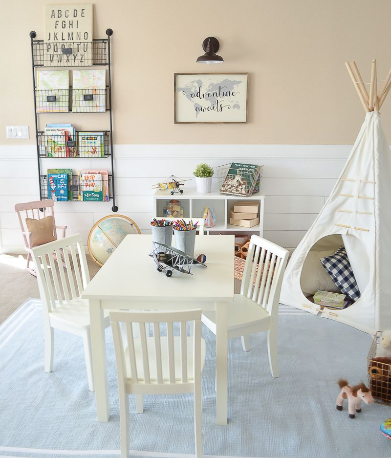 Kids Rooms Climbing Walls And Contemporary Schemes: Modern Farmhouse Playroom