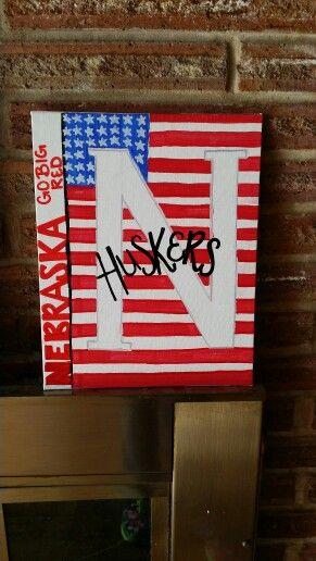 Huskers diy sign #huskers #nebraska