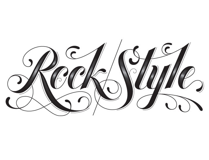Typeverything Com Rock Style By Jessica Hische Tattoo Lettering Styles Tattoo Lettering Tattoo Font For Men