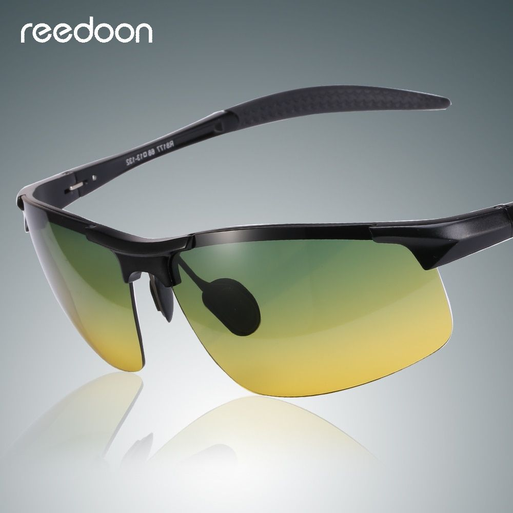 38159fd6e8d Reedoon Night Vision Sunglasses Polarized Yellow Lens Anti-Glare Aluminum  Magnesium Frame Glasses Driving Goggles For Men Women Review