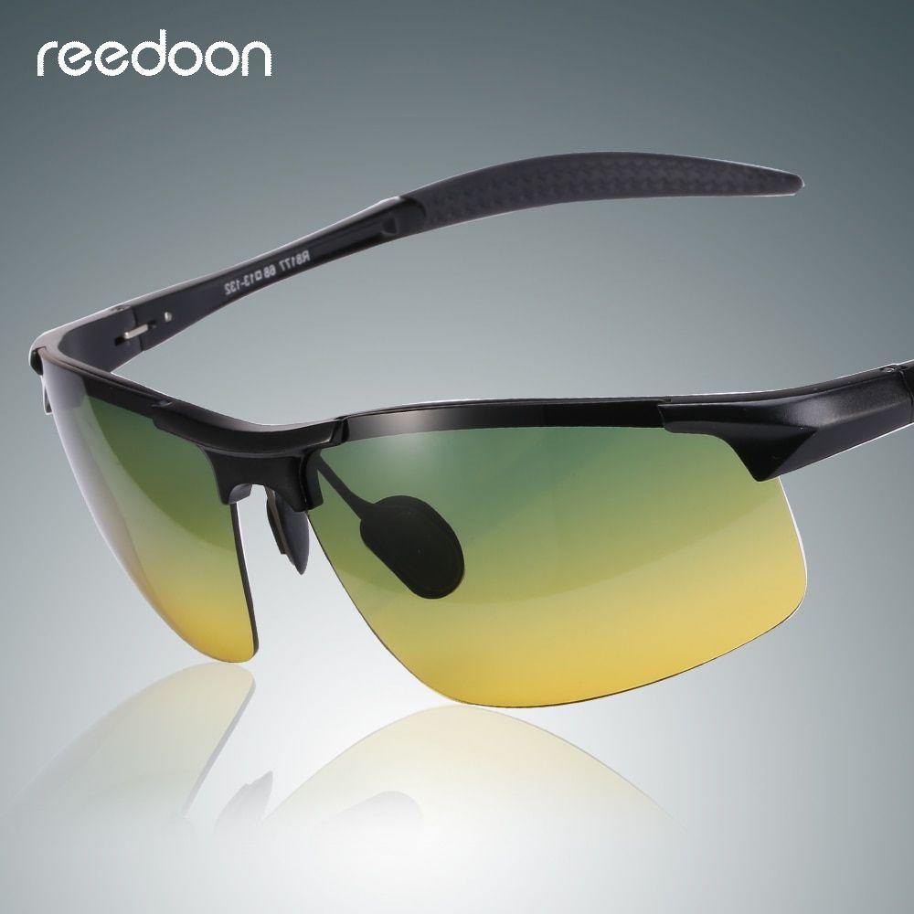 c6bfae08152 Reedoon Night Vision Sunglasses Polarized Yellow Lens Anti-Glare Aluminum  Magnesium Frame Glasses Driving Goggles For Men Women Review