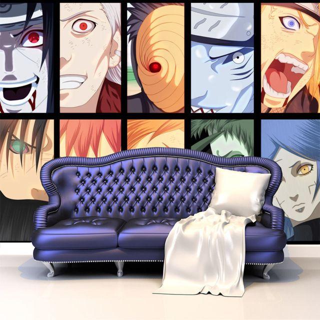 Anime Wallpaper For Bedroom Bedroom Arrangement Pictures Vintage Teenage Bedroom Ideas Hippie Bedroom Decor: Akatsuki's Members Photo Wallpaper Naruto Wall Mural