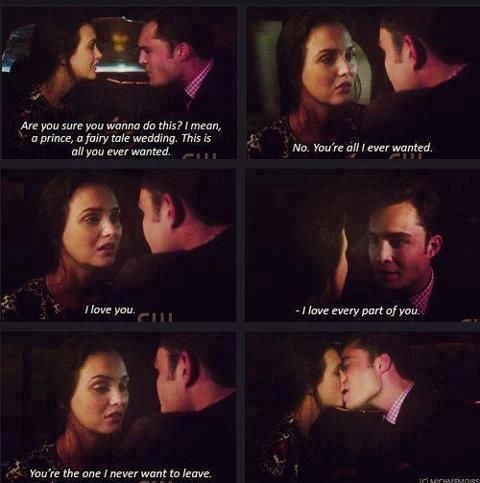 Chuck Says I Love You To Blair You Re The One I Never Want To Leave Blair And Chuck Gossip