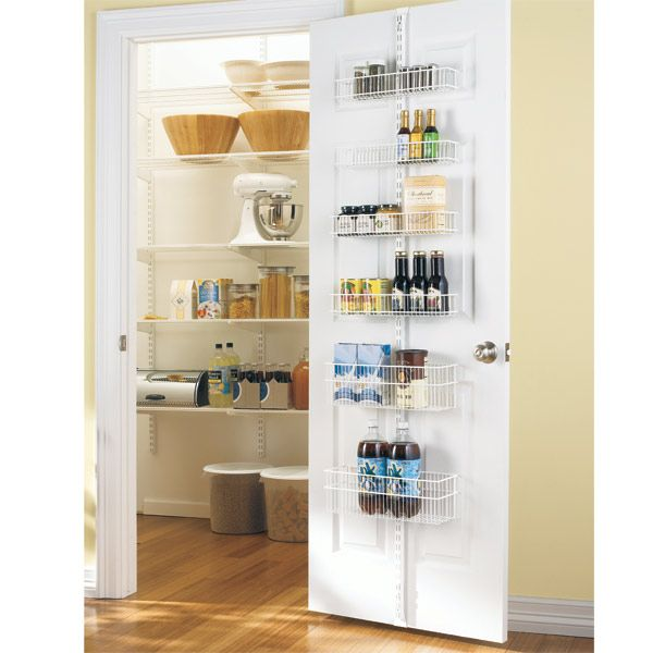 White Elfa Door Wall Rack System For The Pantry Pantry