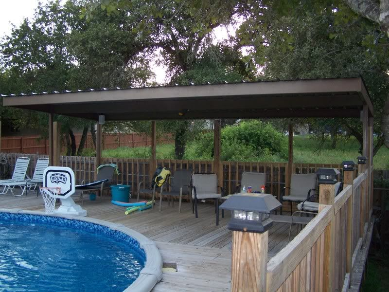 Cantilever Patio Cover Swimming Pool South Bexar County Carport Covers