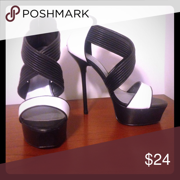 Shoedazzle Platform Heels New! Never worn! Please help me not break my own neck by giving these shoes a good home. Shoes Heels