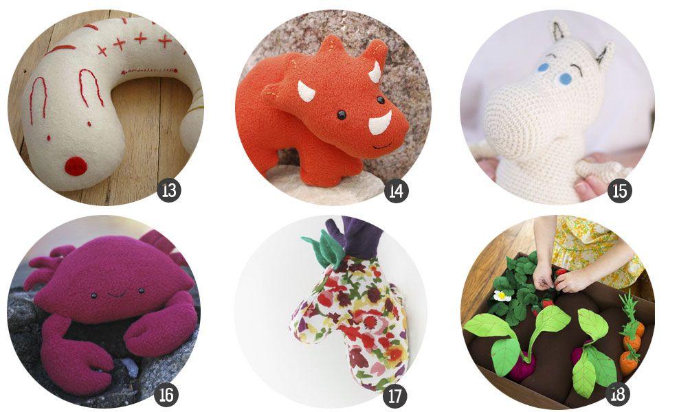 Regalos DIY: 18 patrones gratuitos para crear peluches | Costura ...