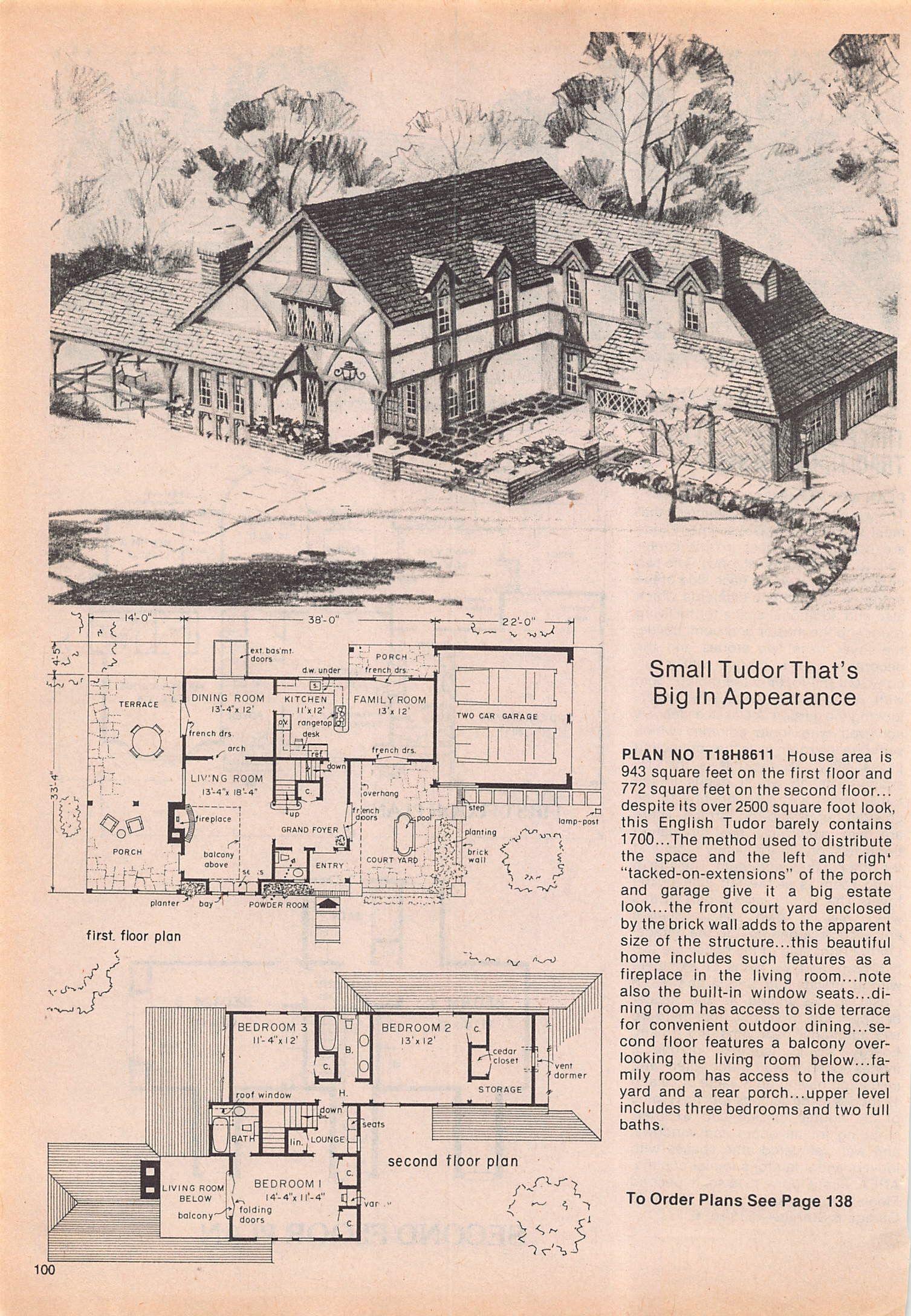 Photo Feb 17 12 44 24 Pm 2 Vintage House Plans House Blueprints Floor Plans