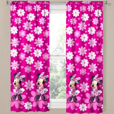 Lovely Disney Minnie Mouse Home Rod Pocket Curtain Panel
