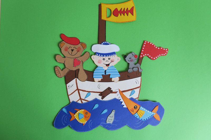 """Fensterschmuck Fensterbild Pirat """"Schiff Ahoi"""" ein"""