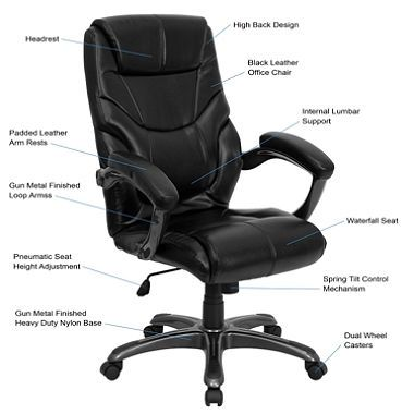 Fantastic High Back Black Leather Executive Office Chair Sams Club Ocoug Best Dining Table And Chair Ideas Images Ocougorg