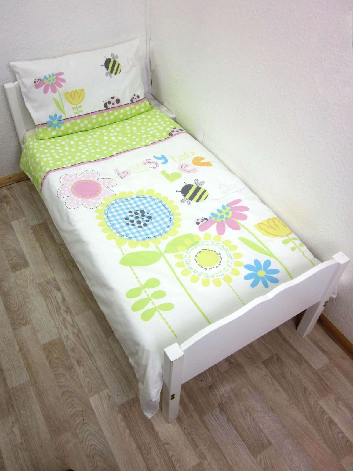 Baby Best Busy Little Bee Cotton Cot Bed Duvet Cover Set 100 X 135 Cm Izzy 39 S New Bedroom Ideas